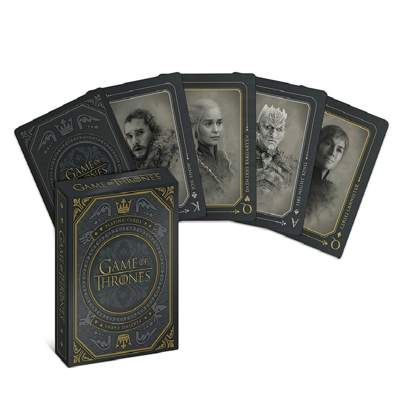New Game Of Thronesed Playing Cards Poker Props Jon Snow Stark Daenerys Targaryen Dany Dragon Mother Cosplay Props Figure Toys