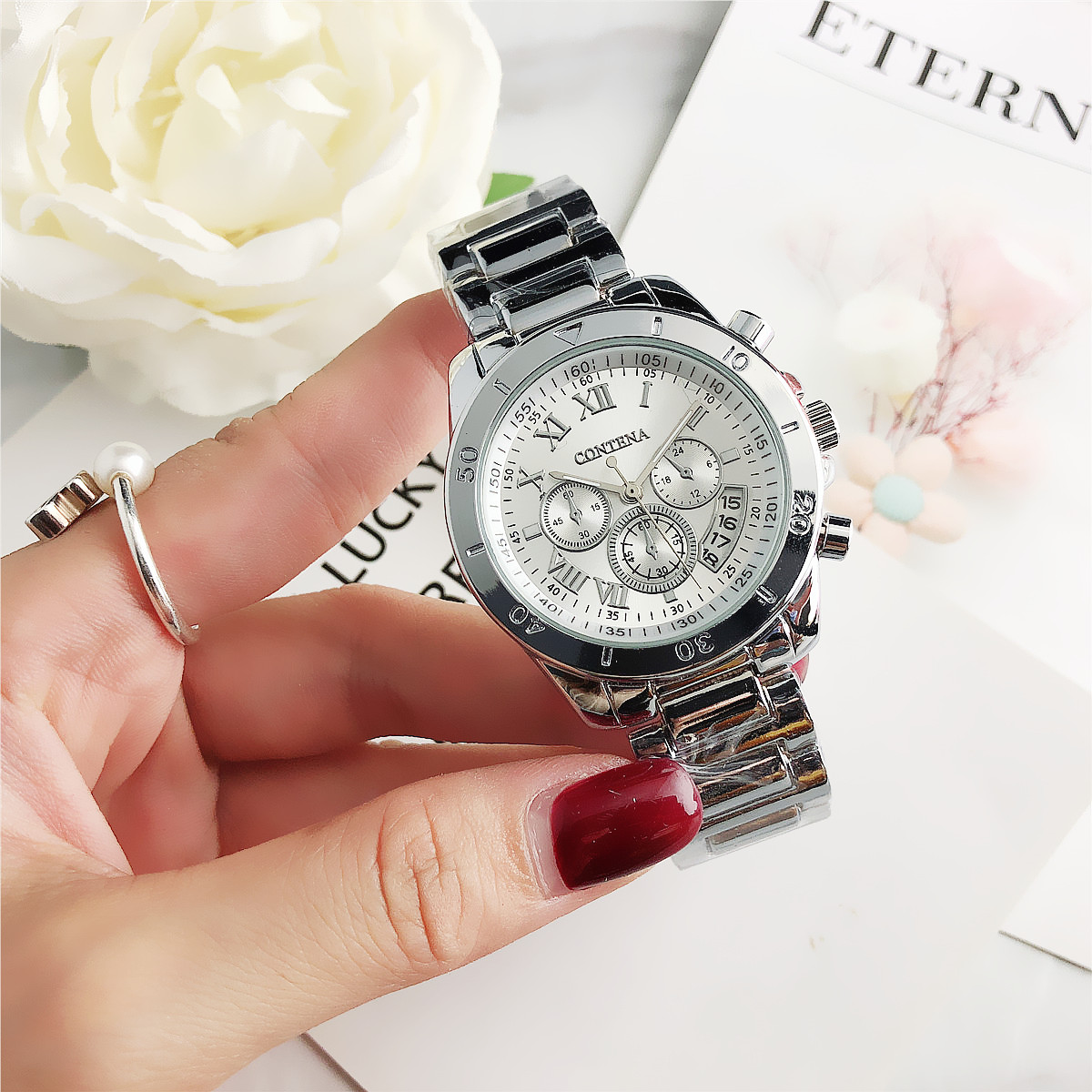 CONTENA Women Watches  Nice Quartz Watch Luxury Ladies Wrist Watch Female Clock Relogio Feminino Montre Femme