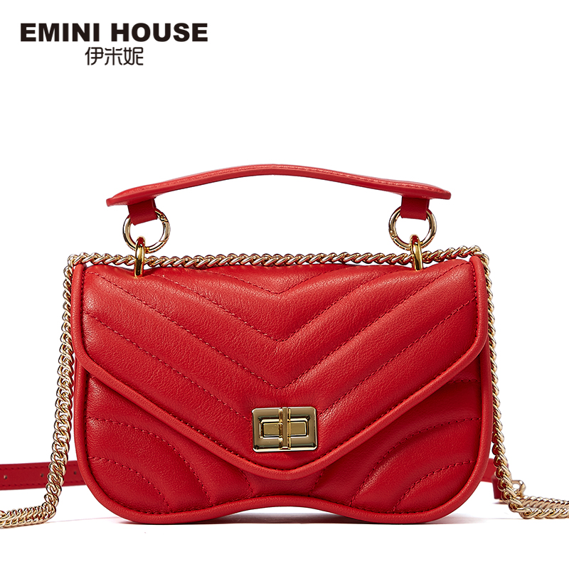 EMINI maison mode chaîne sac à bandoulière sacs pour femmes en cuir véritable sac à bandoulière luxe sacs à main femmes sacs Designer - 2