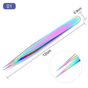 8 πολύχρωμες λαβίδες από ανοξείδωτο χάλυβα για μανικιούρ-πεντικιούρ Μανικιούρ - Πεντικιούρ Προϊόντα Περιποίησης MSOW