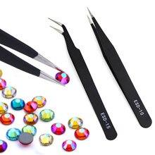 Qiao-Pinzas cruzadas antiestáticas industriales de acero inoxidable, herramientas y accesorios de coser