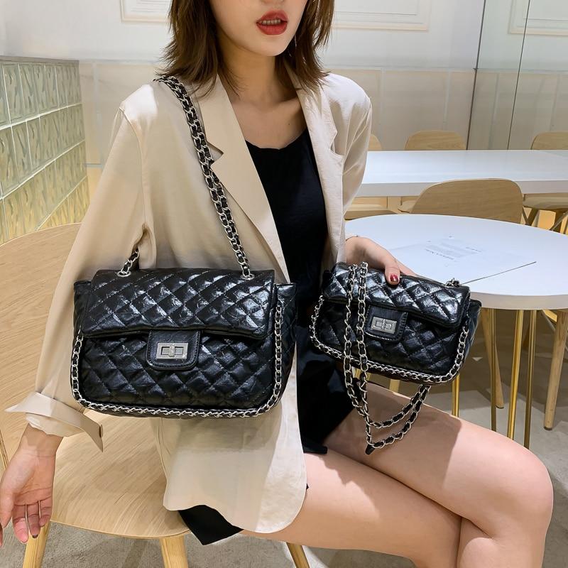 Casual Plaid Chain Shoulder Messenger Bag