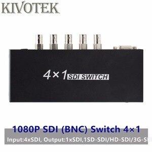 Image 1 - SDI מתג 3G/HD/SDI 4x1 Switcher עם BNC נקבה תמיכה 1080P הפצה Extender עבור מקרן צג מצלמה משלוח חינם