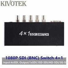 SDI Chuyển Đổi 3G/HD/SDI 4X1 Switcher BNC Nữ Hỗ Trợ 1080P Phân Phối Bộ Mở Rộng dành Cho Máy Chiếu Màn Hình Máy Ảnh Miễn Phí Vận Chuyển
