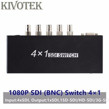 SDI Schalter 3G/HD/SDI 4x1 Switcher mit BNC Weibliche Unterstützung 1080P Verteilung Extender für Projektor Monitor Kamera Freies Verschiffen