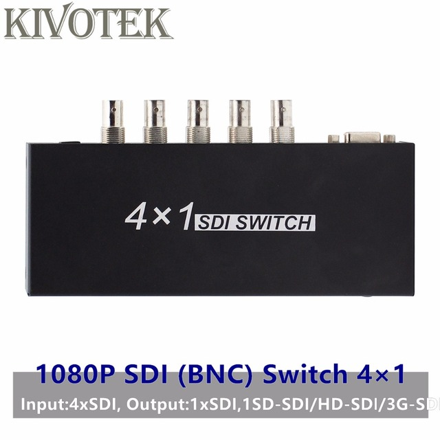 SDI Switch 3G/HD/SDI 4x1 Switcher with BNC Female Support 1080P Distribution Extender for Projector Monitor Camera Free Shipping