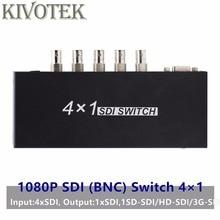 SDI anahtarı 3G/HD/SDI ile 4x1 Switcher BNC dişi destek 1080P dağıtım genişletici projektör için monitörlü kamera ücretsiz kargo