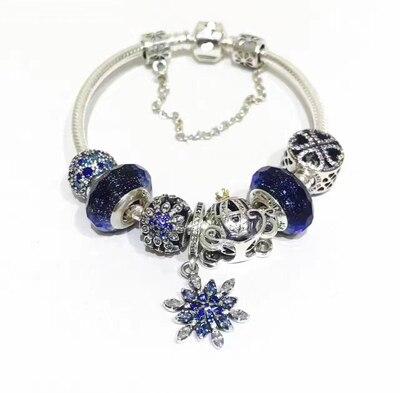Keris Store haute qualité 1:1 100% 925 argent Sterling perles étoile chaîne de sécurité perles Bracelet livraison gratuite