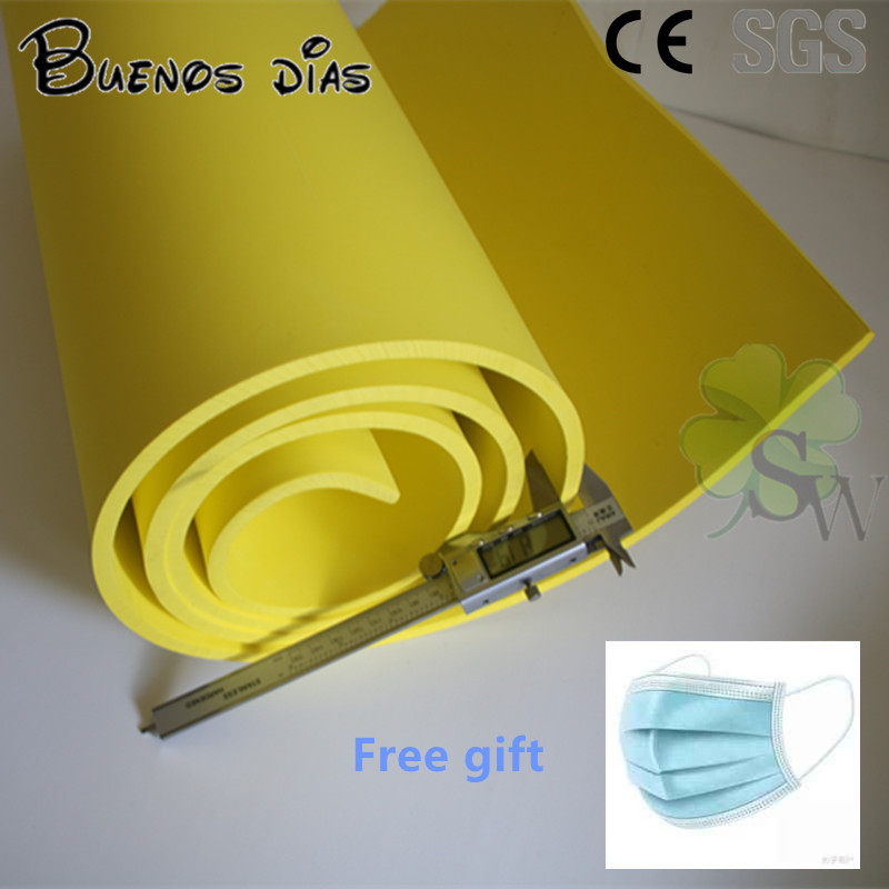 50cm*2m /lot Yellow Color 5mm / 10mm Environmentally-friendly Eva Foam Craft Sheets,Easy To Cut,Handmade Cosplay Material
