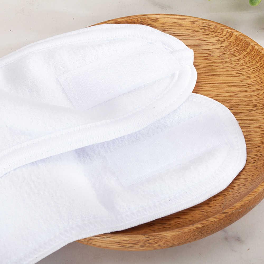 1Pc portátil de viaje de auto-adhesivo Spa mujeres diadema paño de Terry la cabeza con elástico blanco diadema de Deportes de toallas de Ducha banda de pelo