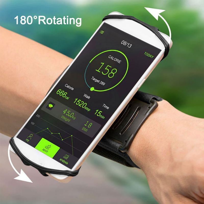 Running Bag Belt Men Women Armband Touch Screen Cell Phone Case 180 Degree Rotatable Cycling Gym Arm Band Bag 4-6 Inches