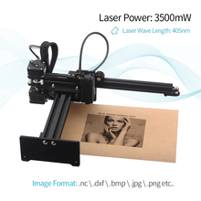 3500mw High Speed mini CNC Laser Portable Desktop Engraving Carving Machine DIY Logo Mark Printer with Protective Glasses