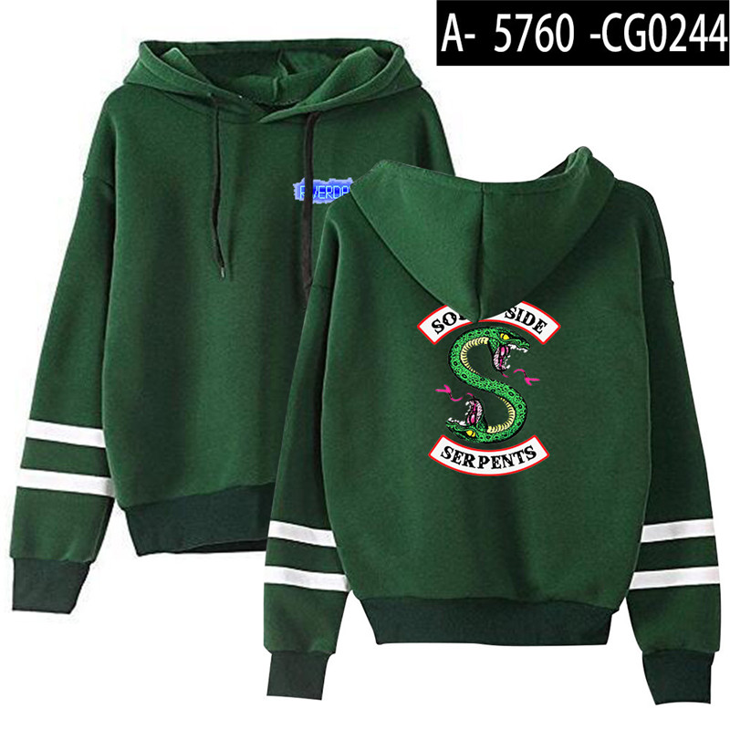 Riverdale Southside Serpents Hoodies Sweatshirts MenS Women South Side Serpents Hoodie Long Sleeve Striped Pullover Top Oversize 22