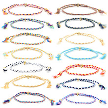 bracelets Hot Sale Lucky Tibetan Women's Bracelets and Bracelets Men's Tassel Knot Cord Bracelets Ethnic Jewelry Gifts