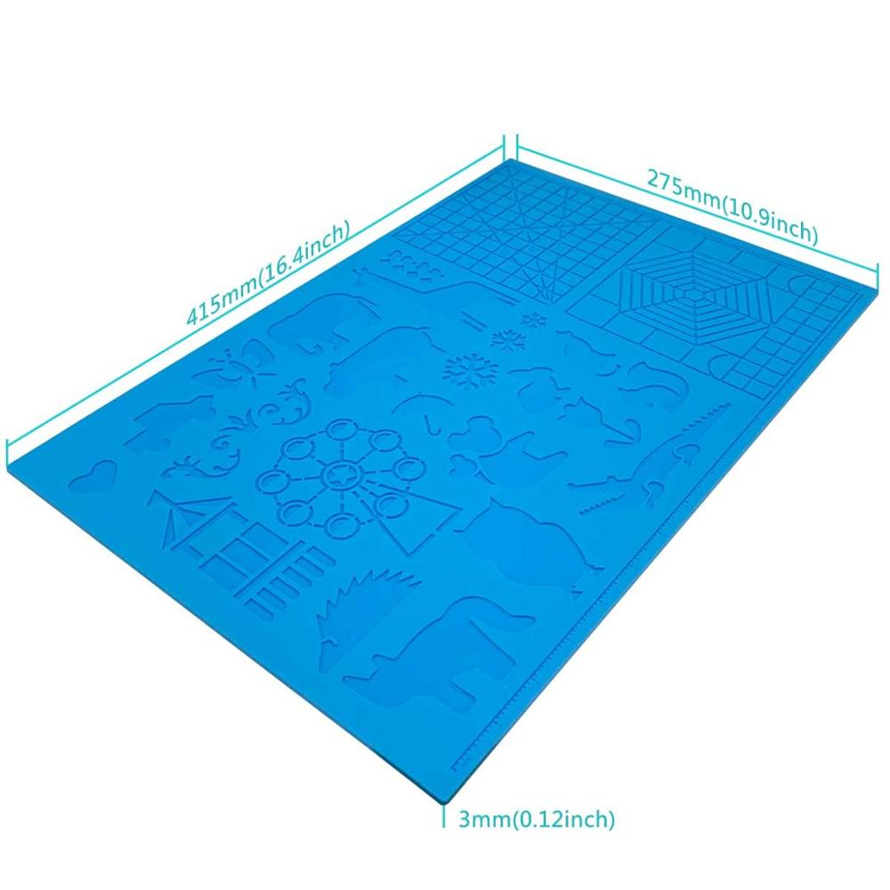 cheapest Dikale 3D Pen Mat 3D Printing Pen Large Silicone Design Mat Pad 3D Pens Drawing Tools for Kids and 3D Pen Artists Drop Shipping