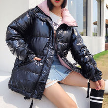 Winter jacket women coats black short fashion  2019 new student Oversize cotton jackets parkas