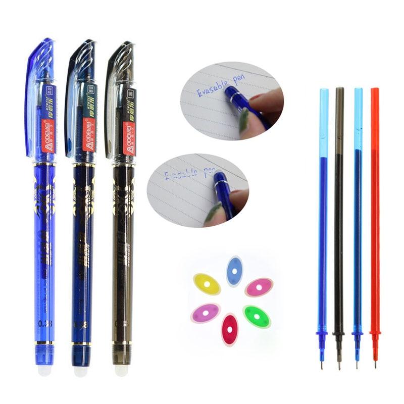 20 Sets / Set Of Rewritable Gel Pen Erasable Refill 0.5mm Needle Refill Blue Black Ink Blue Red, Ink School Writing Stationery