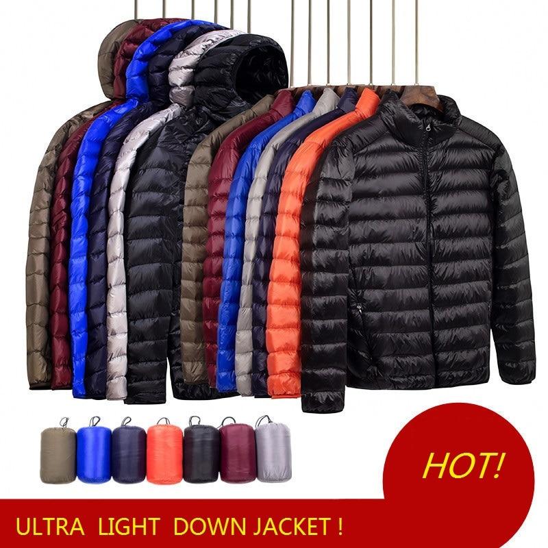 Men Down Jacket Autumn Boys Down Coat Light Down Jackets Men Warm Outerwear S M L XL XXL 3XL 4XL 5XL 6XL 7XL