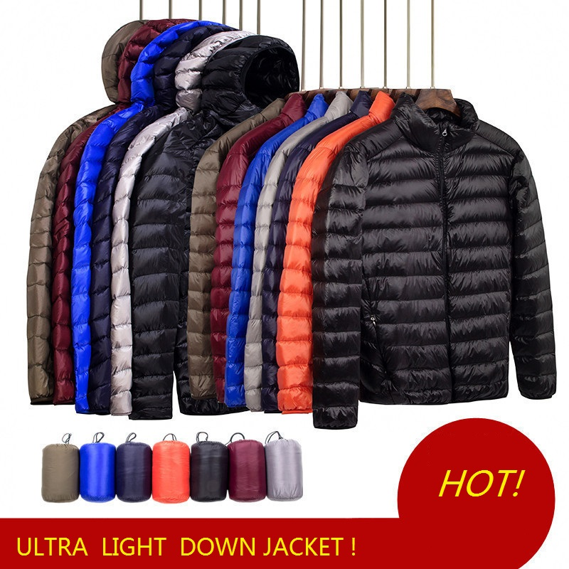 Men Down Jacket Autumn Boys Down Coat Light Down Jackets Men Warm Outerwear S M L XL XXL 3XL 4XL 5XL 6XL 7XL