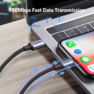 Image 4 - كابل USB C إلى Lightning من UGREEN لهاتف iPhone 12 mini Pro Max PD18W 20 واط كابل شحن سريع لنقل البيانات PD لهاتف MacBook iPad Pro USB