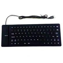 Гибкая клавиатура с 85 клавишами usb портативная Водонепроницаемая