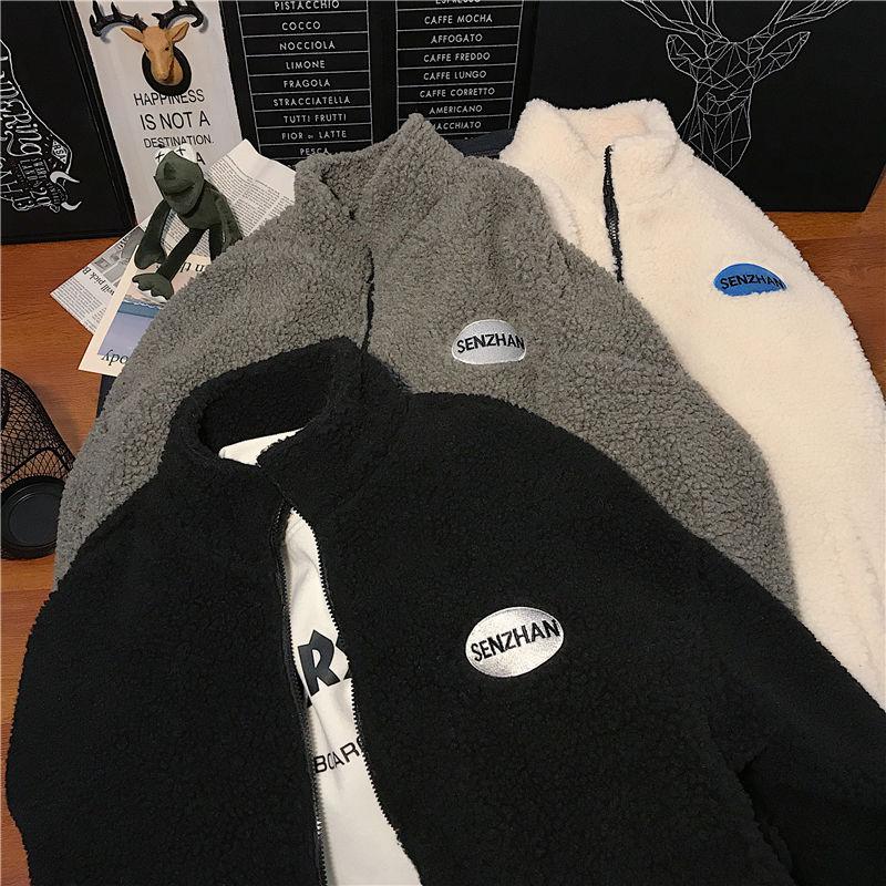 Hc950719b3a01474696a21f617e7fe8c53 2020 Faux lamb wool coat winter clothes women zipper sweatshirt all-match thinner stand collar cardigan harajuku hoodie women