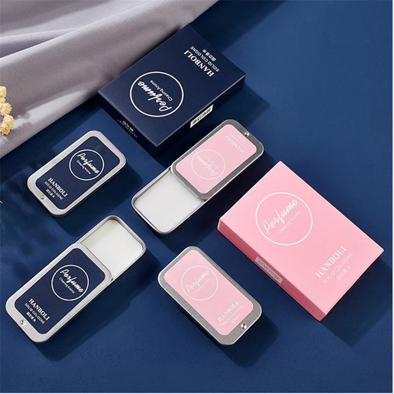 Men Women Perfume Plant Solid Girl Perfumes Magic Balm Iron Box Easy To Carry Body Fragrance Alcohol-free Deont Scented