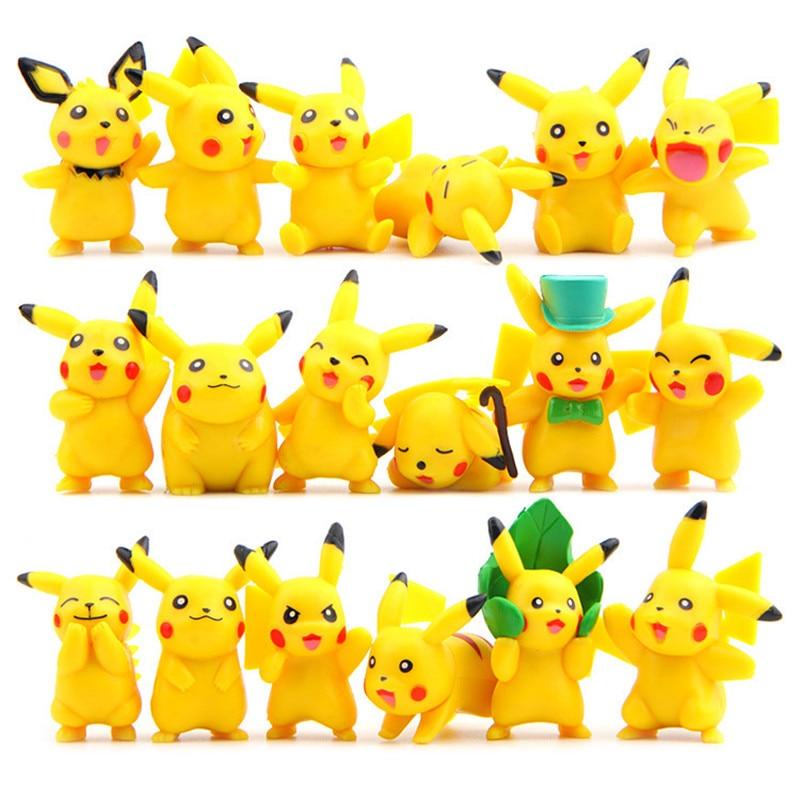 12/18Pcs  Pikachu Plush Toy Cute Anime Plush Doll Children's Gift Toy Kids Cartoon  Pikachu PendantJapan Anime Game Toys