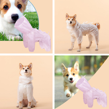 Pet Dogs Dustproof Clothes Antibacterial Safety Protective Clothing For Small Large Dog Light Puppy Fur Protective Coat Walk