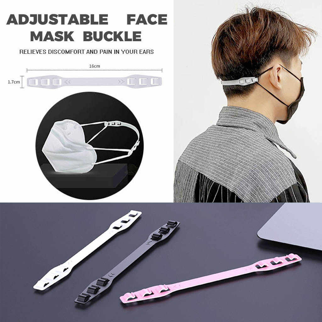 Black Mask Hook Strap Buckle 4 Gears Adjustable Anti-Slip Ear Hook for Long time Wearing Mask,Strap Relieves Discomfort and Pain in Your Ears,Compatible with All Kinds of Mask.