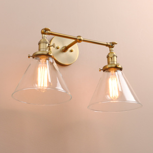 Image 3 - Permo 現代の壁灯壁ランプ燭台 7.3 漏斗ガラスランプシェード wandlamp 寝室ミラーライトロフト装飾照明器具