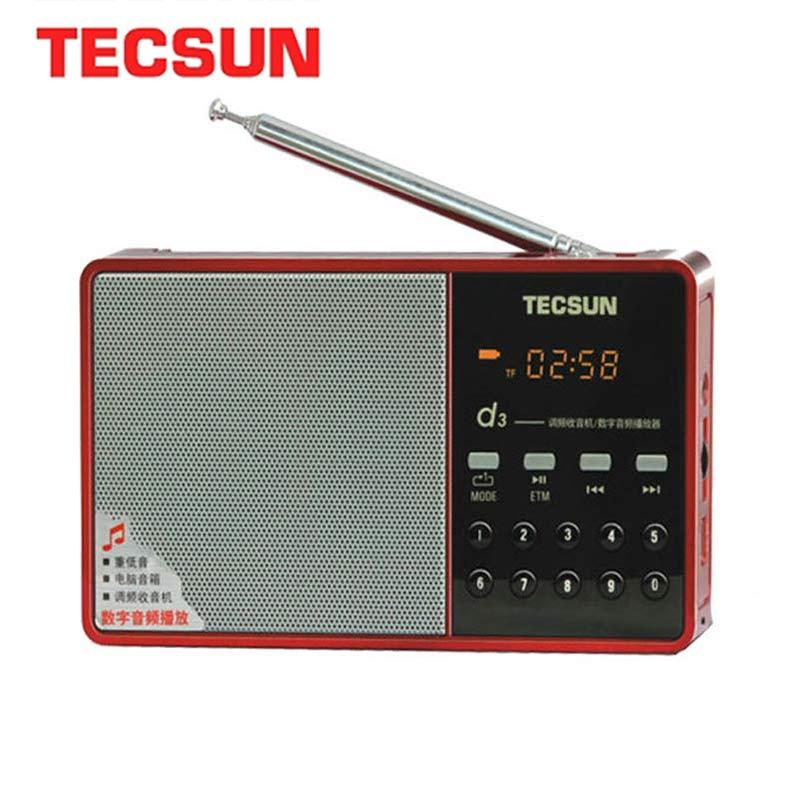 TECSUN D3 FM Radio Digital Audio Speaker FM 64-108 MP3 Player FM Radio With Plug-in Card Portable Internet FM Radio