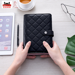 Vintage Leather Diary Travel Journal Notebook Mini Pocket Refillable Ring Binder Black Leather A6 diamond checkered dupe Agenda