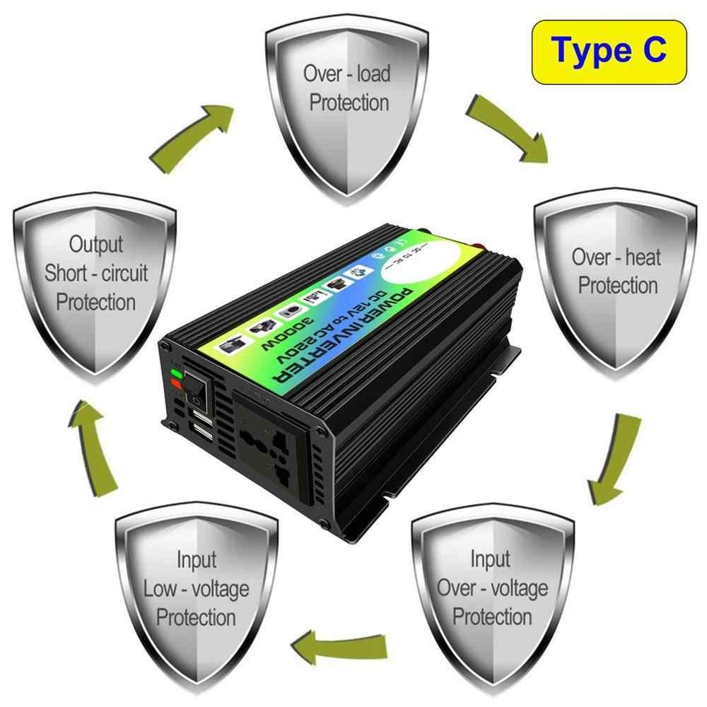 3000W 12V 220 V/110 V inversor de corriente del coche adaptador, cargador, convertidor Dual USB transformador de tensión de onda sinusoidal modificada