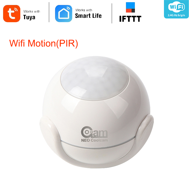 NEO COOLCAM  WiFi PIR Motion Sensor Wireless Passive Infrared Detector Security Burglar Alarm Sensor Tuya APP Control IFTTT
