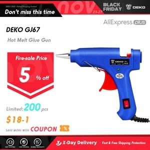 Image 1 - DEKO 20W Spina di UE Hot Melt Pistola di Colla con 7 millimetri Colla Stick Industriale Mini Pistole Termo Elettrico di Calore strumento di temperatura