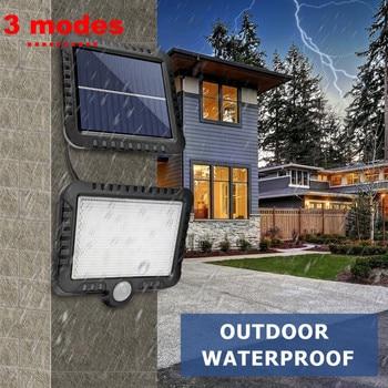 цена на 120/100 LEDs Solar Light PIR Motion Sensor Outdoor Solar Lamp Waterproof Wall Street Garden light Emergency Security Night Light