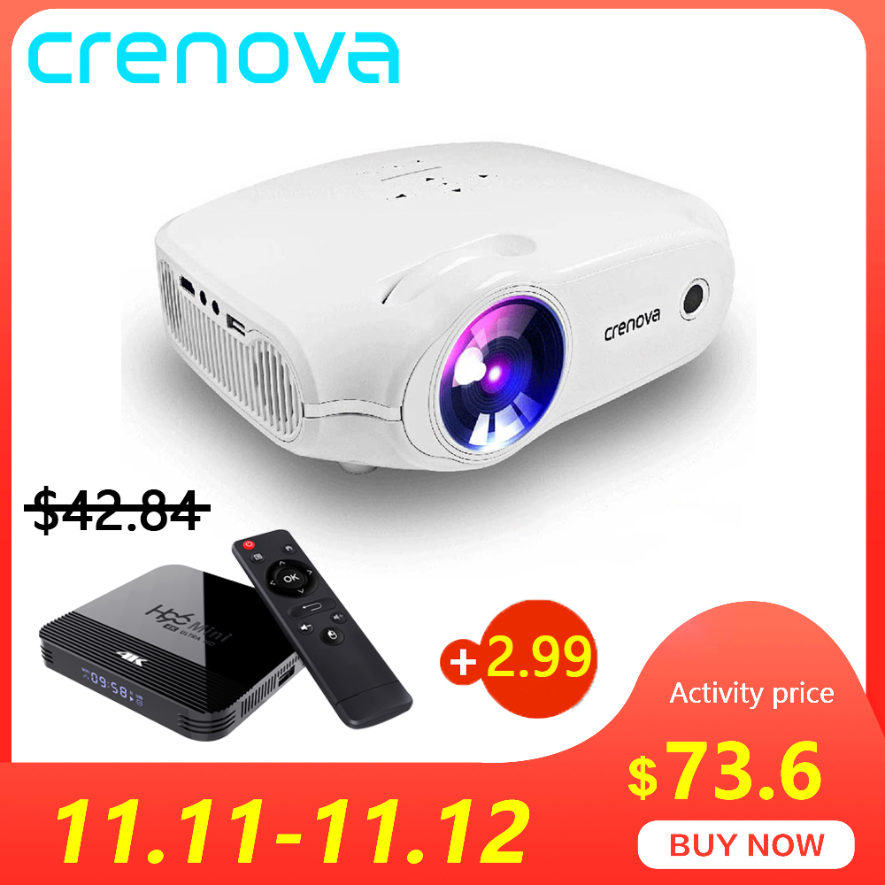 CRENOVA Newest LED Projector For Full HD 4K*2K Video Projector Android 7.1.2 OS Home Cinema Movie Beamer Proyector-in LCD Projectors from Consumer Electronics