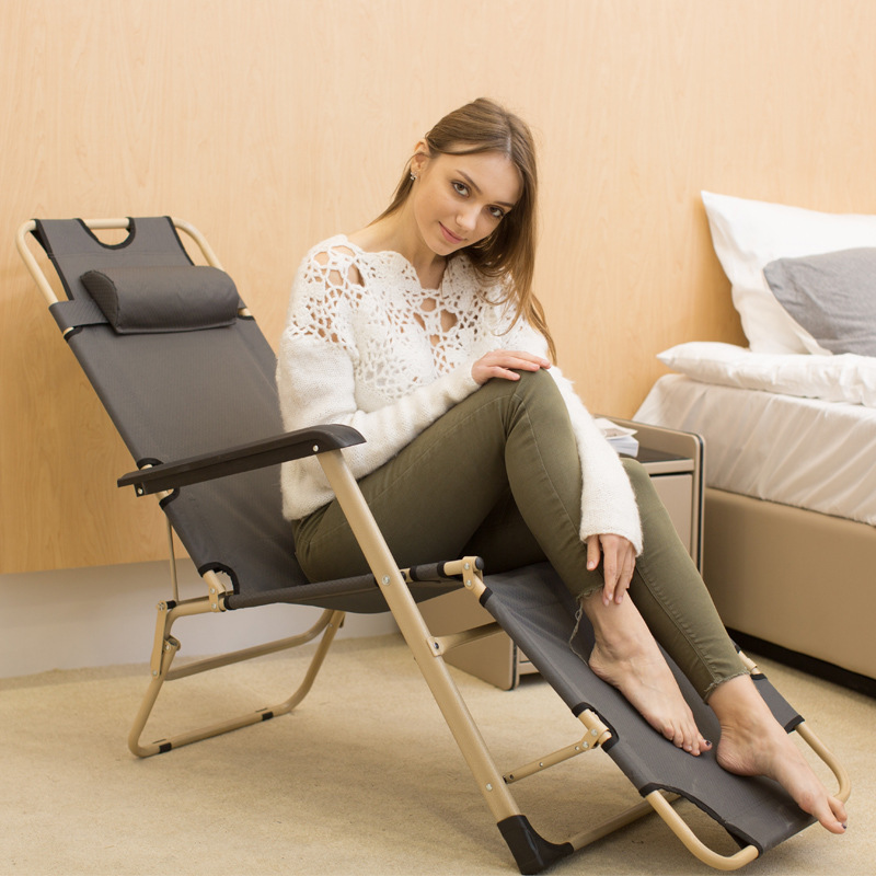 Recliner Folding Chair Bed Casual Adult Nap Bed Single Person Backrest Beanbag Home Balcony In Your Chair