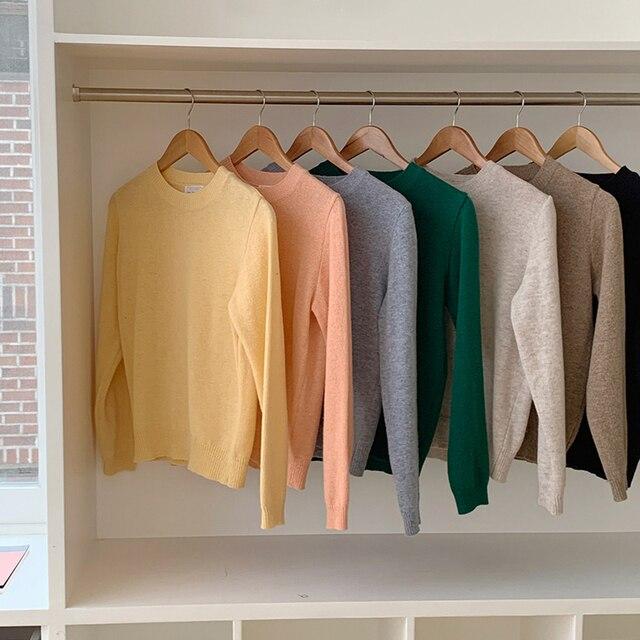 новинка повседневный свитер женский пуловер повседневный вязаный фотография