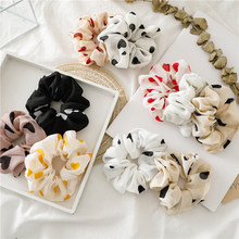 Love Heart Scrunchies Hair Rope Chiffon Scrunchie Women Elastic Hair Bands Stretch Ponytail Holders Girls Hair Ties Accessories(China)