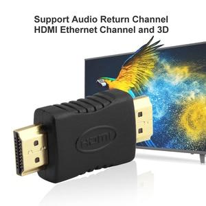 Image 3 - Hdmi에 HDMI 남성 남성 커넥터 커플러 골드 도금 4K HDMI 케이블 Extender 어댑터 변환기 HDTV 노트북 프로젝터에 대 한