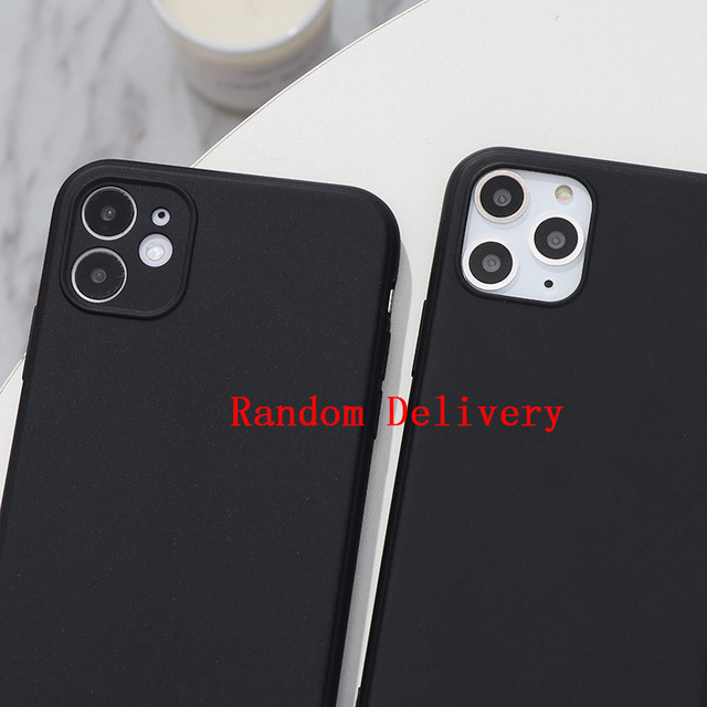 White Black Matte Coque For iPhone 12 11 Pro Xs Max XR X 5 5S SE 2020 6 6S 7 8 Plus TPU Back Cover For iPhone 7 Plus Phone Case 5