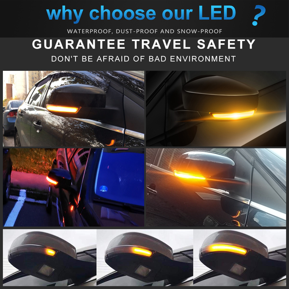 2x Jaguar XJ8 4-LED Side Repeater Indicator Turn Signal Light Lamp Bulbs