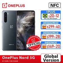 Globale Version OnePlus Nord 5G OnePlus Offizielle Shop Snapdragon 765G Smartphone 8GB 128GB 6.44 ''90hz AMOLED Bildschirm 48MP Quad