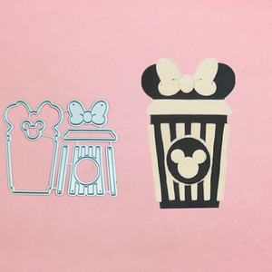 Mickey Minnie ramka skrzyni łuk metalowe foremki do wycinania szablony do stempel do scrapbookingu/album fotograficzny dekoracyjny wytłoczenia kartki diy