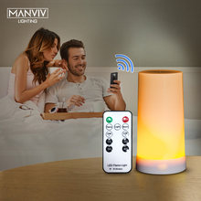 Night Light LED Table Lamp Portable USB Magnetic Gravity Sensor Flame Lamps with IR Remote Control For Bedroom Party Camp Flame(China)