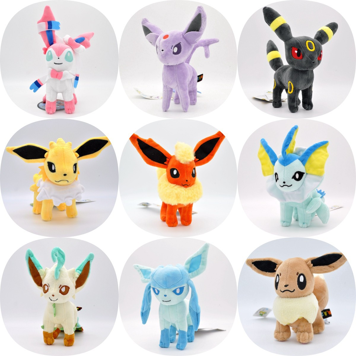 Pokemon Plush 14cm Eevee Sylveon Umbreon Vaporeon Glaceon Espeon Soft Stuffed Doll