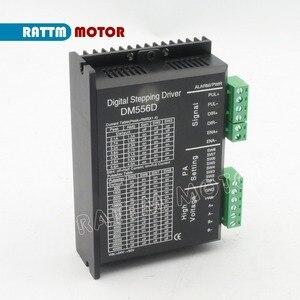 Image 5 - ЕС Бесплатный НДС 4 шт. DM556D 50VDC 5.6A 256 microстеп высокая производительность цифровой для ЧПУ маршрутизатор машина NEMA17/23 шаговый двигатель драйвер