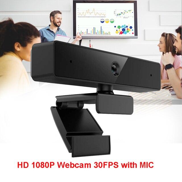 Cámara web 4K HD Pro, 1080P, enfoque automático, Full HD, vídeo de llamada panorámica y grabación, versión actualizada